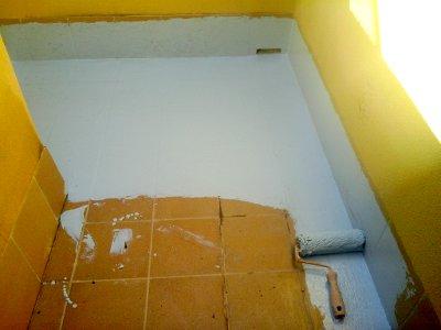 Impermeabilizar terraza sin levantar suelo, primer paso.