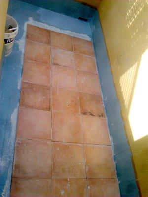 Impermeabilizar terraza sin levantar suelo, colocando baldosa