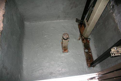 Impermeabilización foso de ascensor terminada