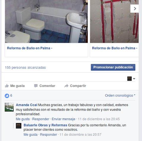 opinión reforma de baño en Palma