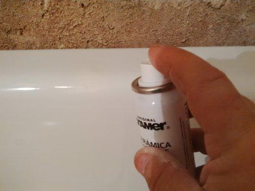 aplicación esmalte bañera en spray