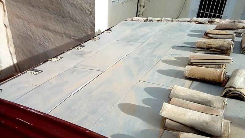 aislamiento tejado teja arabe