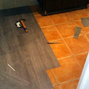 Instalación pavimento vinílico