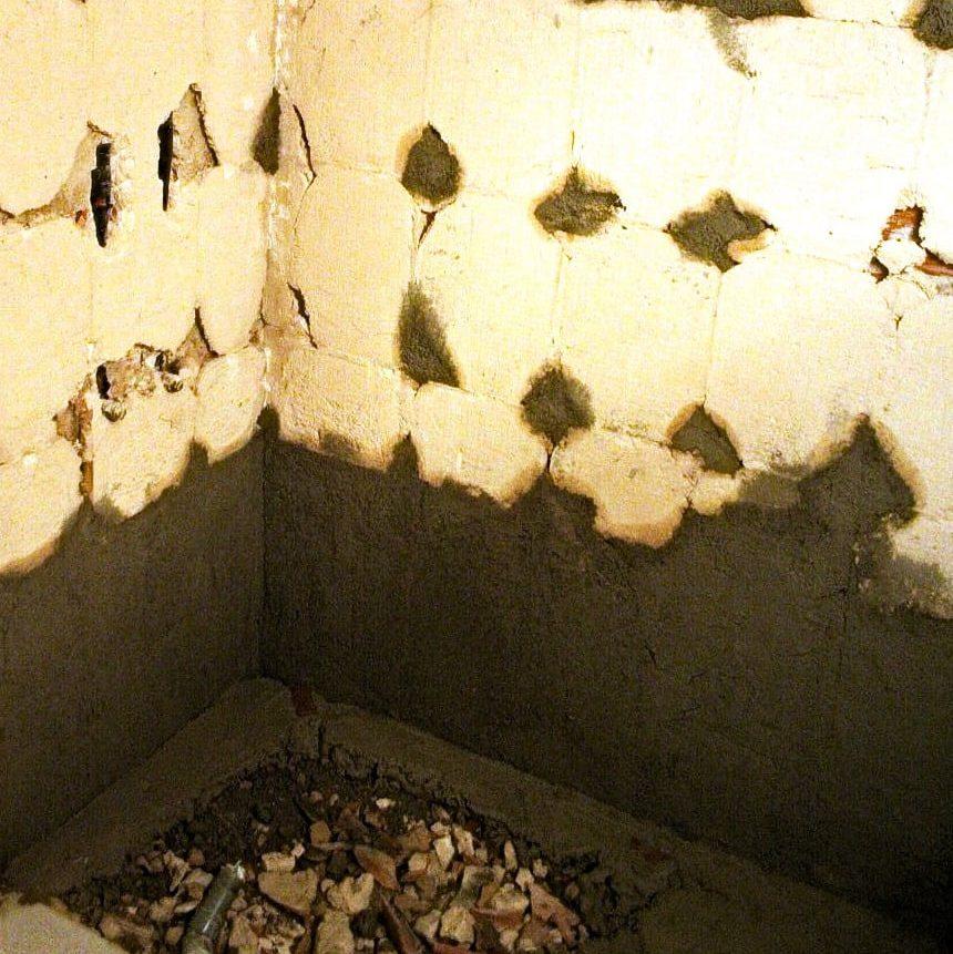 preparación paredes para reforma baño