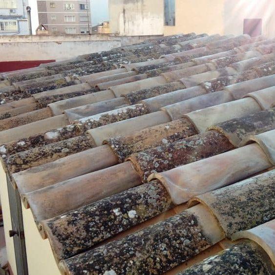 impermeabilización de tejado con tejas originales